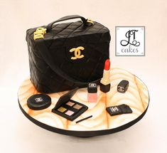 Chanel bag with matching makeup.