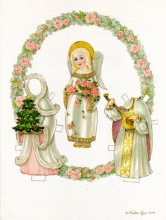Another Christmas angel designed by the late Helen Page.  She could do the most delicate watercolors I have ever seen.