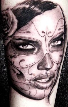 if I had the balls to get a sleeve, i'd definitely do a whole sleeve of sugar skulls and dia de los muertos type of theme!