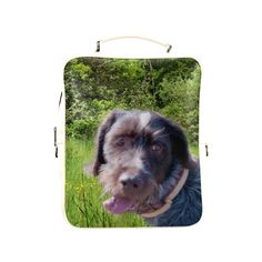 Dog and Flowers Square Backpack. FREE Shipping. FREE Returns. #lbackpacks #dogs