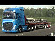 Euro Truck Simulator 2 - NaturaLux - Volvo FH - Cursa in Tarile Baltice Sardinia Italia, Truck Games, Black Sea, Volvo, Euro, Trucks, Truck