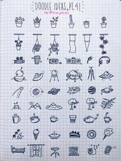 """3.29.16+1:45pm // 26/100 days of productivity // the very kind @men-bong asked if i could post more doodle ideas, so here's another doodle reference sheet! looks a lot like the first one but trust me; it's very different! also, it's a little dreary today. i feel like staying in and snuggling up with just the fairy lights on.song of the day: """"winter"""" - mree"""
