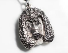 Irish Water Spaniel Necklace Jewelry Sterling Silver Pendant Personalized