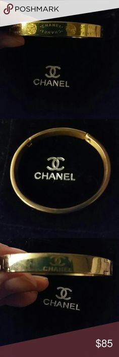 Gold High Fashion Bangle Bracelet Beautiful one of a kind gold plated bracelet. I suggest it's appropriate for a smaller wrist. No brand implied. Jewelry Bracelets