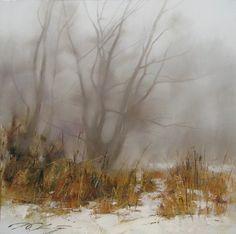 Зимний пейзаж-75х75 х.м 2010