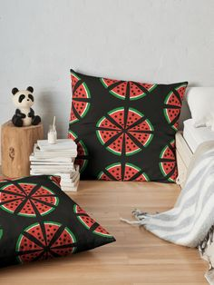 """Watermelon Slices"" Floor Pillow by Pultzar 