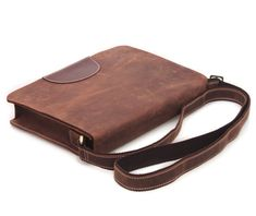 Retro Brown Handmade Genuine Crazy Horse Leather Messenger Satchel