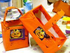 faire un panier d'halloween en carton (à partir d'une boite de chaussures enfant)