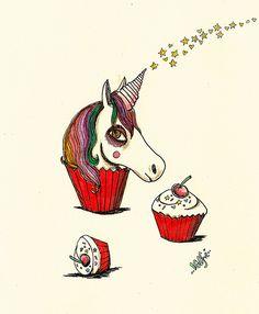 unicorn cupcake ∞