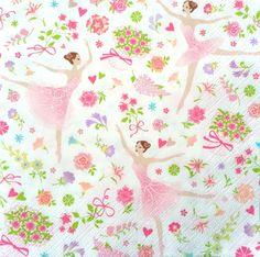 £0.99 GBP - 4 Single Vintage Table Paper Napkins Lunch For Decoupage Decopatch Ballerina #ebay #Home & Garden