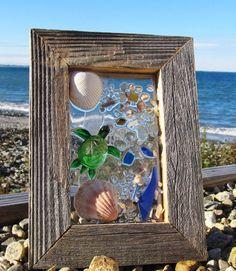 Sea+Glass+Turtle+Window+by+beachcreation+on+Etsy,+$70.00