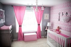 Modern Baby Girl Nursery Decorating Ideas Pictures