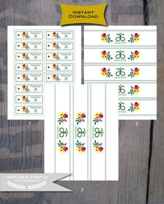 INSTANT DOWNLOAD * Printable Arbonne Spa Party Package * Illustrated Flowers * Reusable