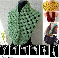 Stylish Crochet Puff Ball Scarf #DIY #craft #crochet #scarf