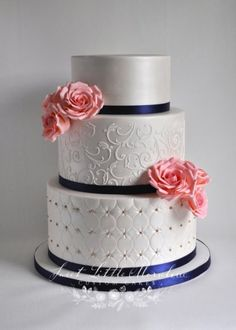 gold and navy blue wedding cake 21 cakes cakesdecor intended for dark blue wedding cake