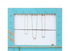Jewelry Organizer // Necklace Display, Bracelet StorageWall  Holder // Jewelry Wall Hooks / Turquoise Eco-Friendly Furniture Storage // Gift on Etsy, $124.00