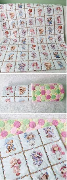 One hour baby quilt- soft and warm, minky on the back. via @getagrama