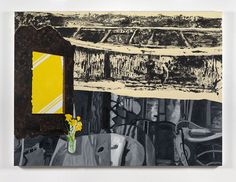 DEXTER DALWOOD Yellow Mirror, 2015 Oil on canvas 150 x 202 cm (59 1/8 x 79 1/2 in.)