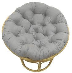 COTTON CRAFT Papasan Charcoal - Overstuffed Chair Cushion, Sink into Our Thick Comfortable and Oversized Papasan, Pure Cotton Duck Fabric, Fits Standard 45 inch Round Chair - Chair not Included Papasan Cushion, Papasan Chair, Chair Cushions, Black Dining Room Chairs, Farmhouse Table Chairs, Seat Pads, Chair Pads, Swivel Rocker Chair, Rocking Chair
