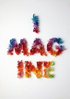 Paper Art by Yulia Brodskaya, #rainbow imagine, #quilling
