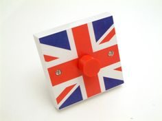 GB Flag Light Switch, designed and handmade by karoline mileham of candy queen designs Gb Flag, Union Flags, London Calling, Union Jack, Interesting Stuff, About Uk, Candy, Queen, How To Make