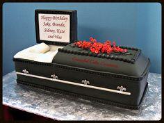 3 D Casket Birthday Cake