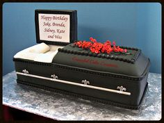 3 D Casket Birthday Cake