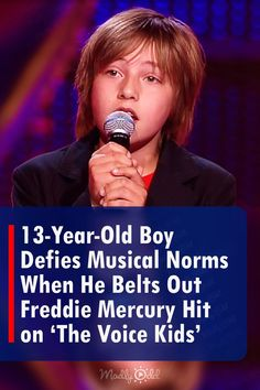 """Bohemian Rhapsody is arguably one of the most challenging songs to perform on """"The Voice Kids"""" as the range necessary for the vocalist is excessive and unique. #Music #Queen #TheVoice #Kids The Voice Of Holland, 13 Year Old Boys, Nbc Tv, Blake Shelton, Talent Show, Kelly Clarkson, Movie Releases, John Legend, Greatest Songs"""
