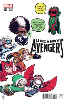 COUNTER-EVOLUTIONARY PART From the ashes of AXIS an all-new, all different Avengers assemble!- The tragedy at the end of AXIS has left the Uncanny Avengers vulnerable, and someone is taking advantage of it.- One of the Avengers oldest foes returns . Avengers Comics, Avengers 2015, Uncanny Avengers, Baby Avengers, Marvel Heroes, Marvel Art, Marvel Room, Young Avengers, Skottie Young
