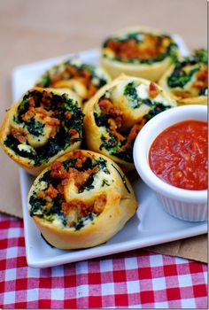 Spinach & Sausage Pinwheels