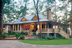 Antique Craftsman Wrap Around Porch House Plans Wrap Around Porch House Plans For Better House Exterior raleigh nj options madison wi or sunroom pictures maintenance The Plan, How To Plan, House Plans One Story, Best House Plans, Story House, Retirement House Plans, Unique House Plans, Rustic House Plans, One Story Homes