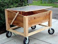 Movable garden box