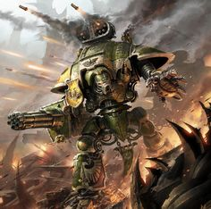 Imperial Knight Artwork #40k #wh40k #warhammer40k #40000 #wh40000…