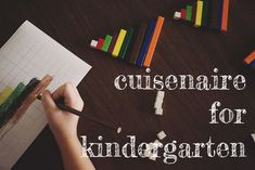 cuisenaire rods with kindergarteners