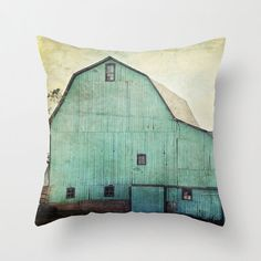 Decorative Pillow Cover Aqua Barn Vintage Turquoise Mint Country Rustic Farmhouse Cottage Decor Photo Case Home Bedroom by laughlovephoto on Etsy https://www.etsy.com/listing/152150009/decorative-pillow-cover-aqua-barn