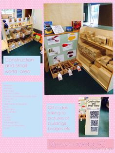 Construction and small world area. EYFS