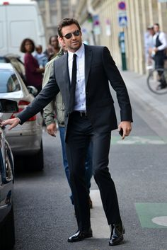 Hugh Jackman Out & About In Paris