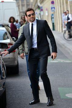Hugh Jackman Out & About In Paris