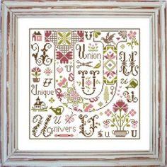 Lettre U Comme Univers, Gráfico de punto de Cruz de jardin Privé en www.lacasinaroja.com