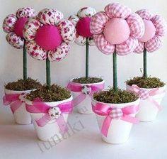 Мастеркласс - цветочное дерево - делаем из ткани и синтепона и украшаем интерьер