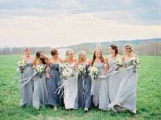 Bridesmaid dresses Photography: Amelia Johnson Photography - amelia-johnson.com Read More: http://www.stylemepretty.com/2015/03/25/elegant-maryland-countryside-wedding/