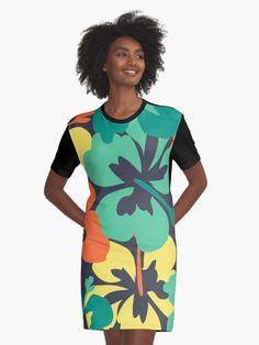 """Flower Print, Flower Pattern"" Graphic T-Shirt Dress by MsD7 | Redbubble Flower Prints, Flower Patterns, Shirt Dress, T Shirt, Chiffon Tops, Crew Neck Sweatshirt, Wrap Dress, Mini Skirts, Women's Fashion"