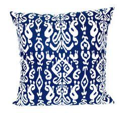 Ikat Navy Pillow SM & LG