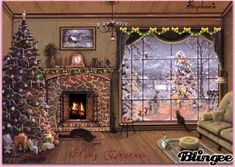 Do you dream of transforming your cocoon into a miniature Christmas village? We give you all the tips to choose the size of your Christmas tree according to the place you reserve for it, its price and its decorative look! Beautiful Christmas Scenes, Christmas Scenery, Christmas Mood, Noel Christmas, Christmas Pictures, Vintage Christmas, Illustration Noel, Christmas Illustration, Photo Images