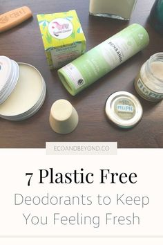 Make the switch to a zero waste, plastic free deodorant with one of these seven eco friendly options. Natural Deodorant, Lip Scrub Homemade, Homemade Deodorant, Lush Bath Bombs, Homemade Cosmetics, Sustainable Living, Organic Skin Care, Bath And Body Works