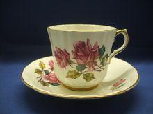Royal Eton Cup & Saucer Staffordshire England Fine Bone China Pink Roses