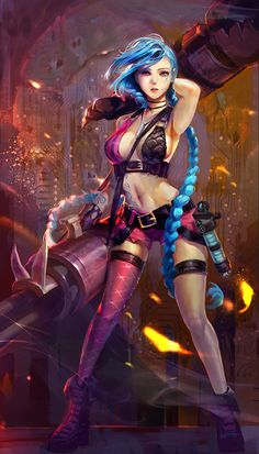 sexy fan art League of Legends jinx leagueoflegends