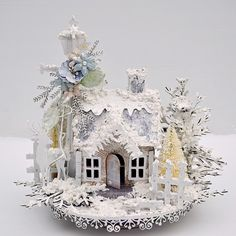 Fits me to A & T; a winter christmas wonderland … - Christmas Home Decorations Noel Christmas, Christmas Paper, Pink Christmas, All Things Christmas, Winter Christmas, Vintage Christmas, Christmas Wishes, Winter Snow, Christmas Village Houses