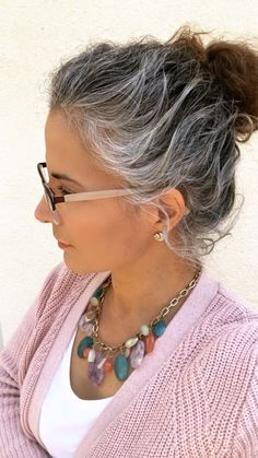 Gray Wigs Lace Frontal Wigs Best Box Hair Dye For Grey HairCover Gray – wigsshort Long Gray Hair, Grey Wig, Silver Grey Hair, Box Hair Dye, Dyed Hair, Makeup To Suit Grey Hair, Curly Hair Styles, Natural Hair Styles, Grey Hair Inspiration