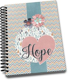 Hope / 120 Lined Journal Pages / Spiral Bound / Notebook / Notebooks, Journals, Journal Pages, Spiral, Unique Jewelry, Handmade Gifts, Etsy, Kid Craft Gifts, Craft Gifts